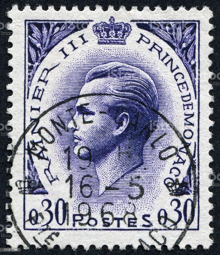 Monaco Stamp stock photo