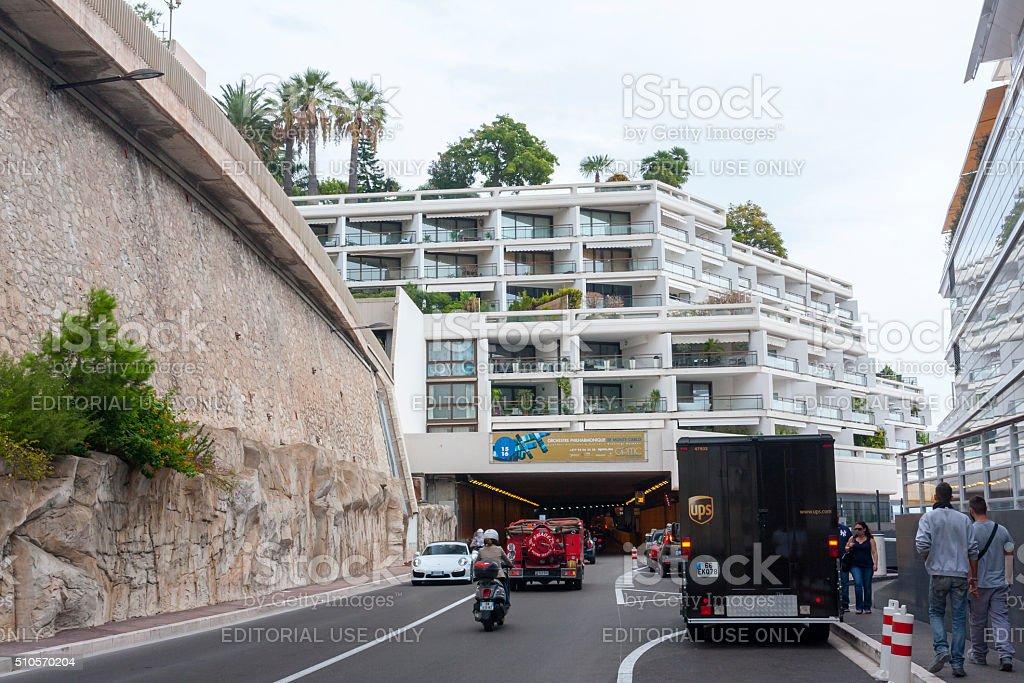 Monaco Tunnel stock photo
