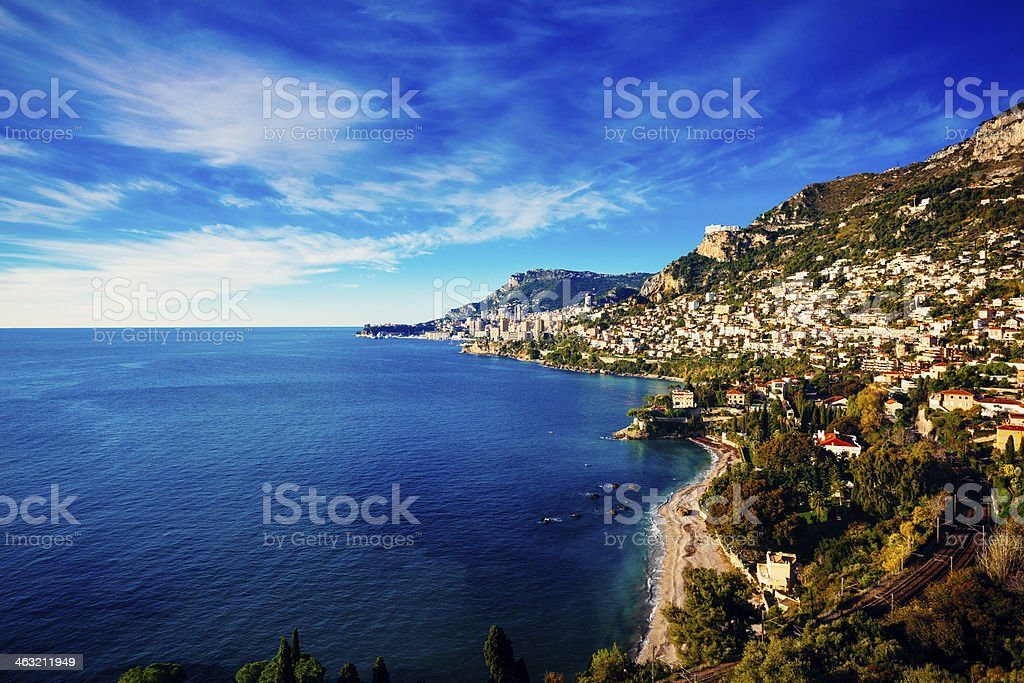 Monaco (Monte Carlo) View from the Sea, stock photo
