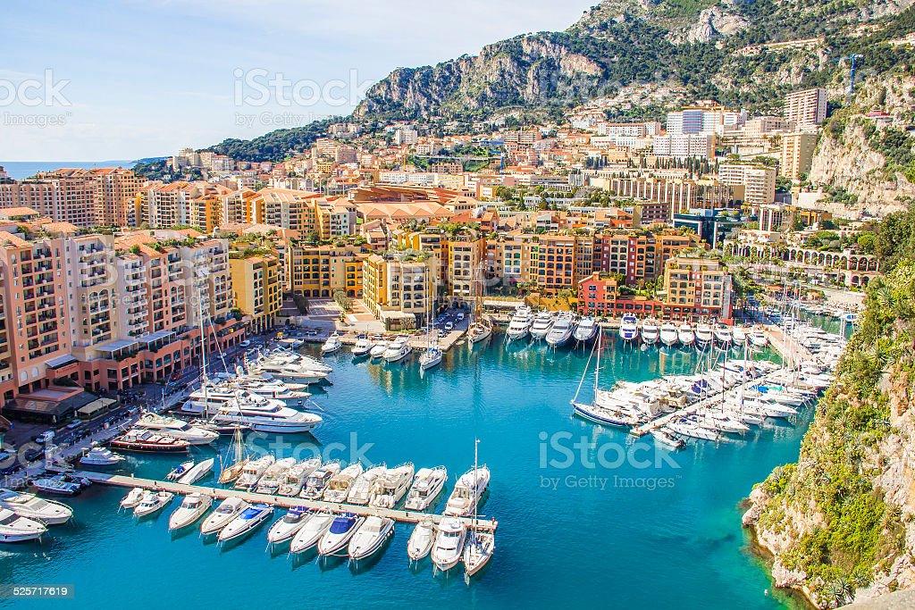 Monaco view stock photo