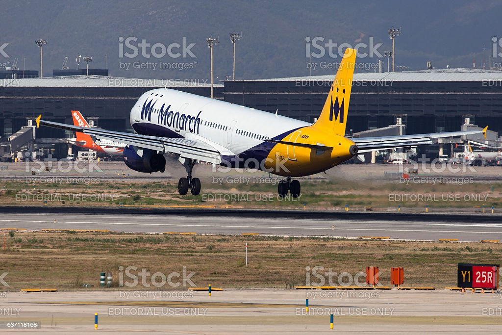 Monarch Airlines Airbus A321 stock photo
