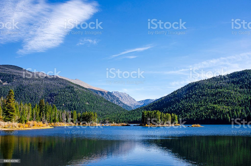 Monarch Lake in the Colorado Rocky Mountains stock photo