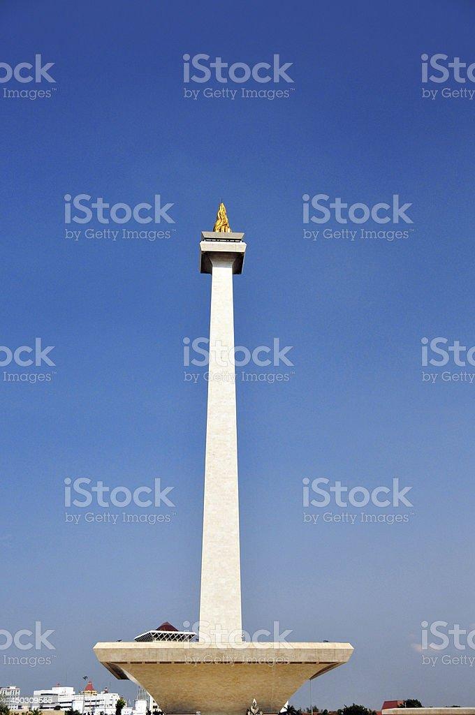 Monas tower, Indonesia, Java, Jakarta stock photo