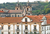 Monastery and church in Alcobaca Portugal