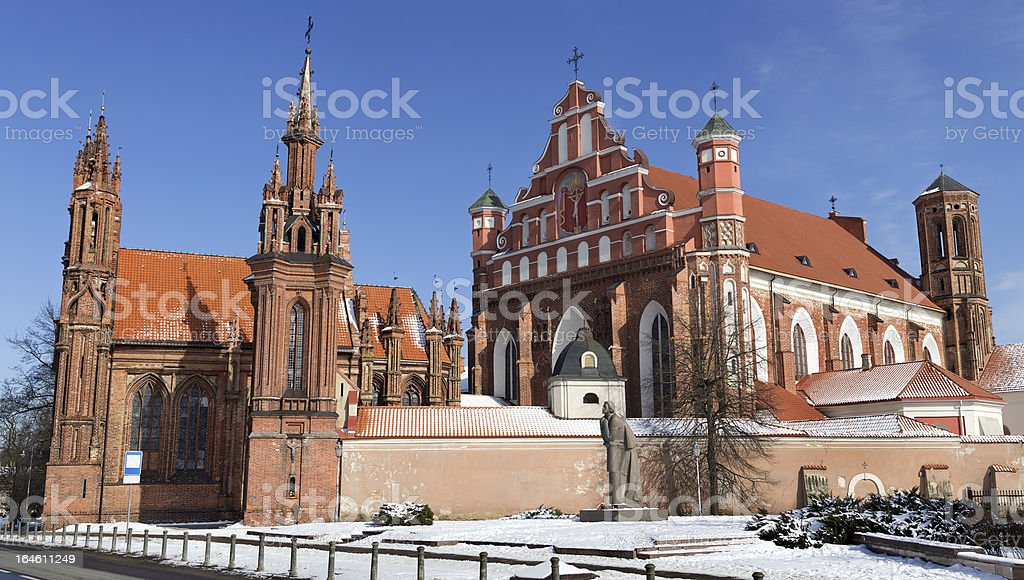 Monastery and gothic church in Vilnius royalty-free stock photo