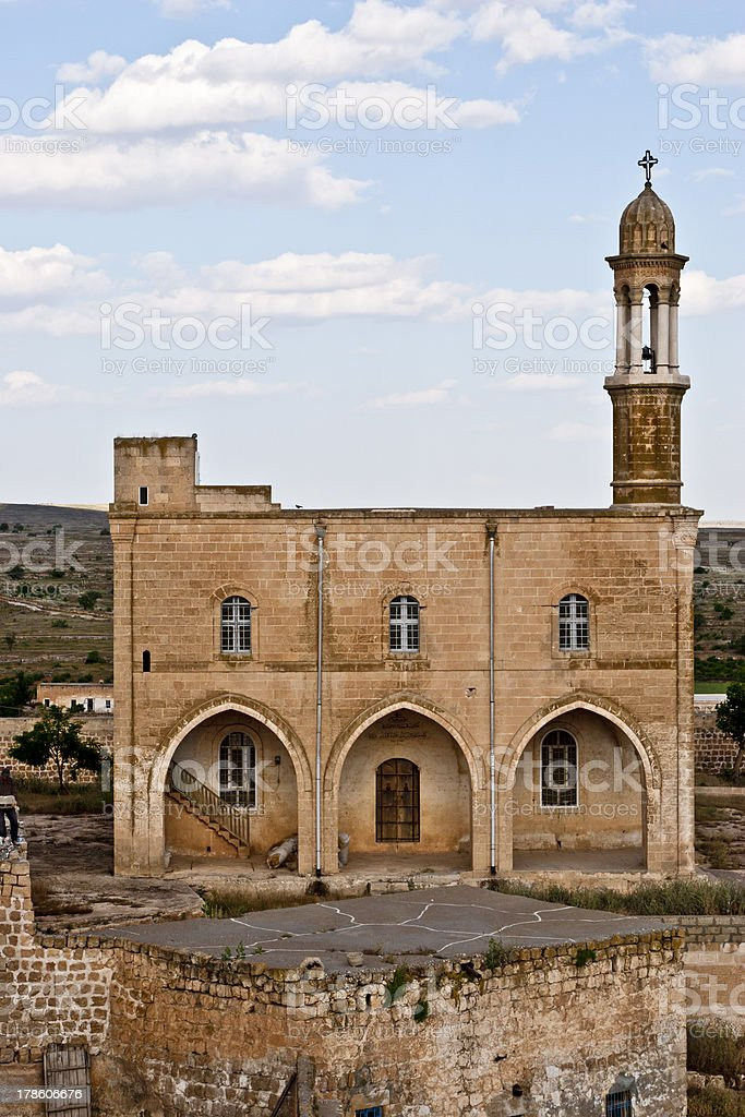 Monastery at Midyat, Mardin-Turkey royalty-free stock photo