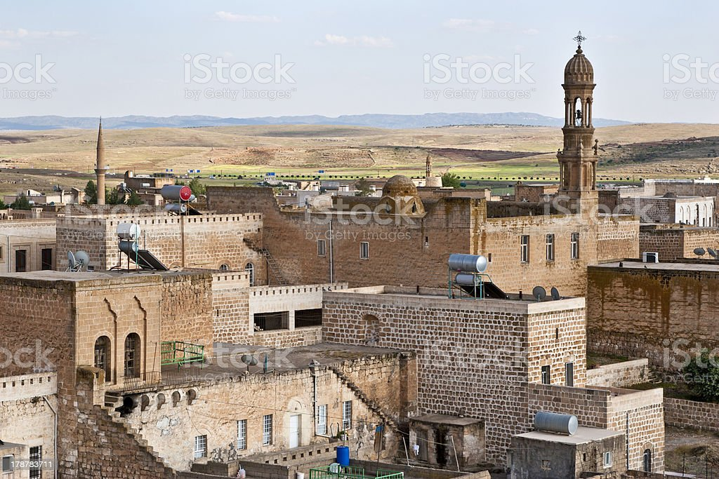 Monastery at Midyat, Mardin-Turkey stock photo