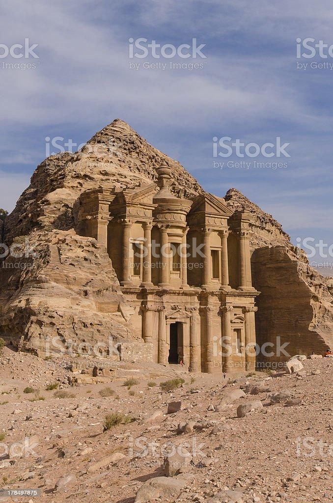 Monastery at Petra royalty-free stock photo
