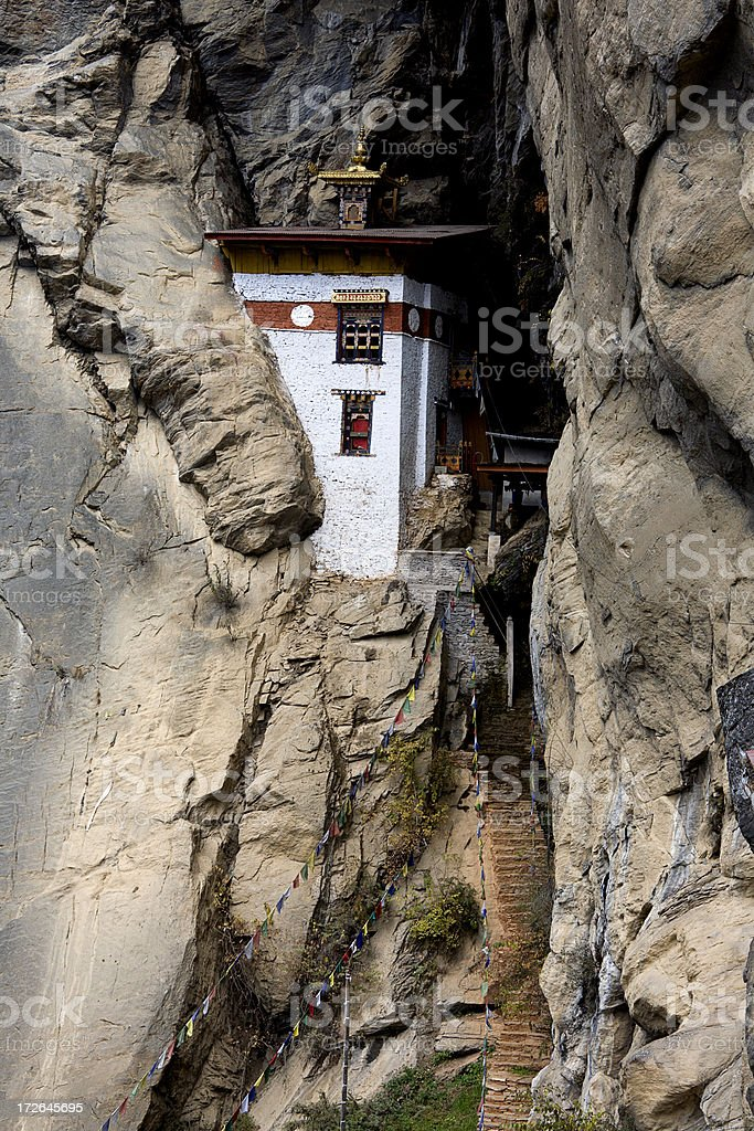 Monastery Building at Taktsang royalty-free stock photo