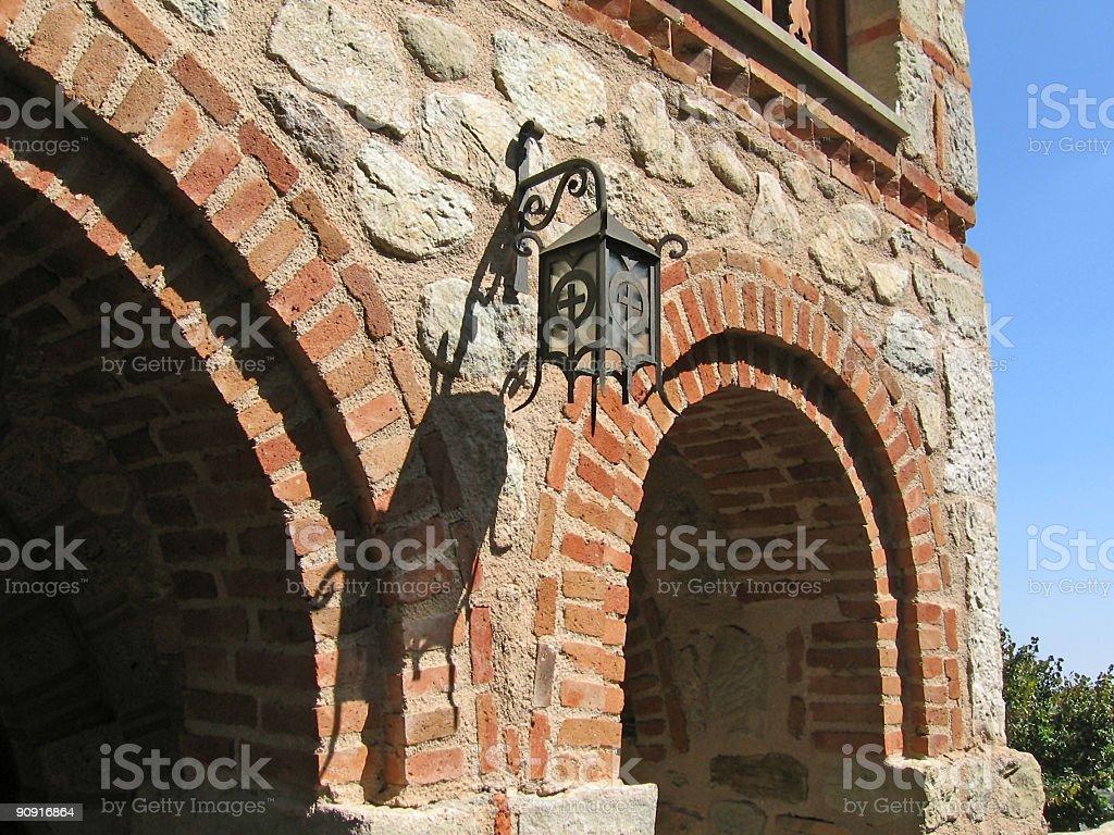 Monastery complex - old lantern royalty-free stock photo