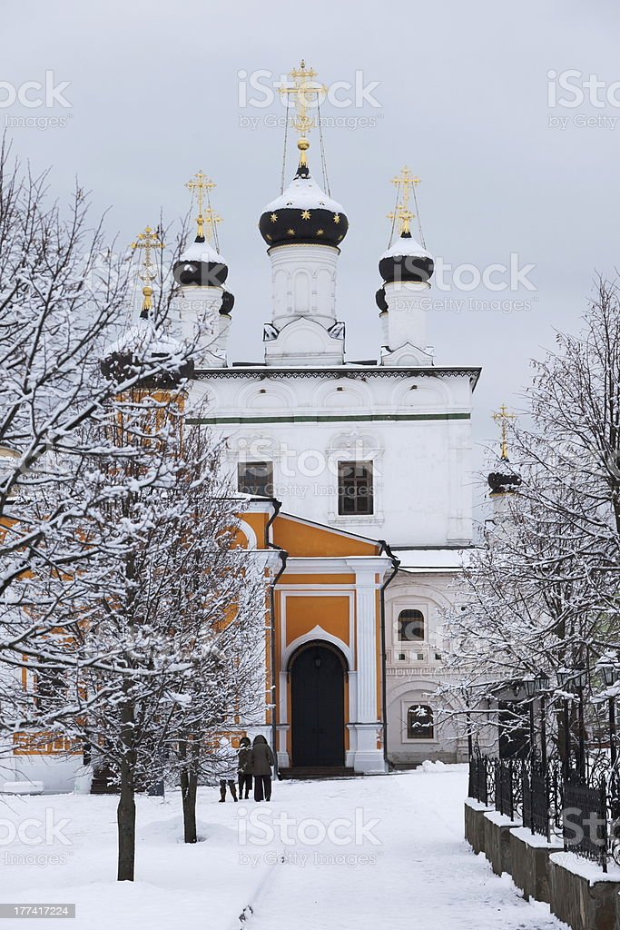 Monastery Davidova Pustin. Chekhov. Moscow region. Russia. stock photo