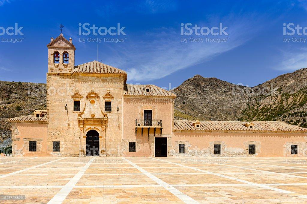 Monastery Del Saliente stock photo