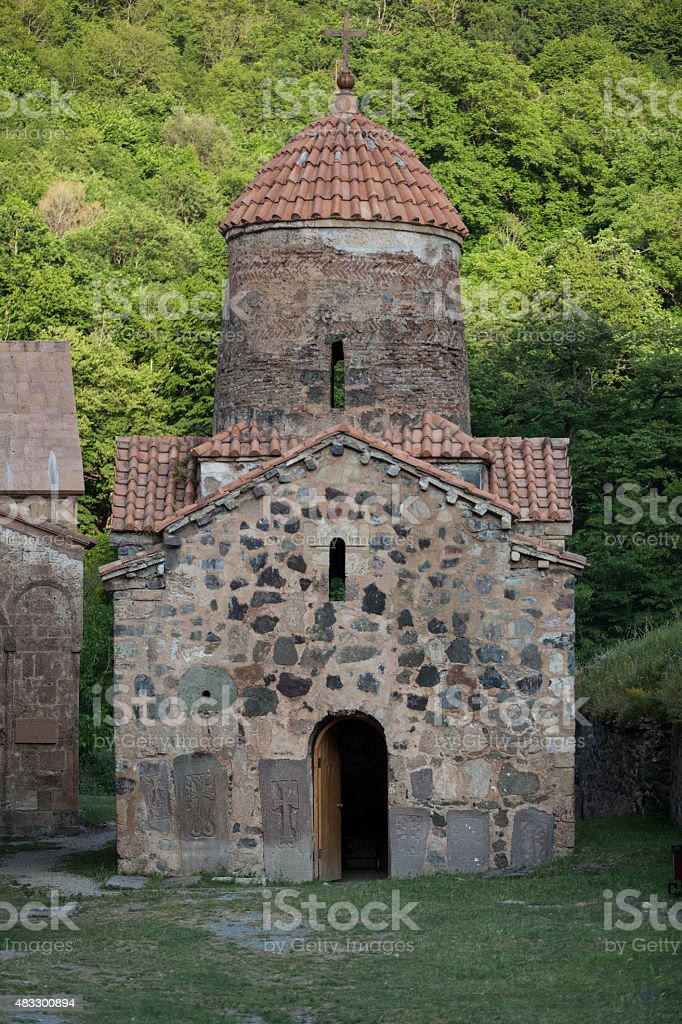 Monastery in Dadivank, Nagorno Karabakh stock photo