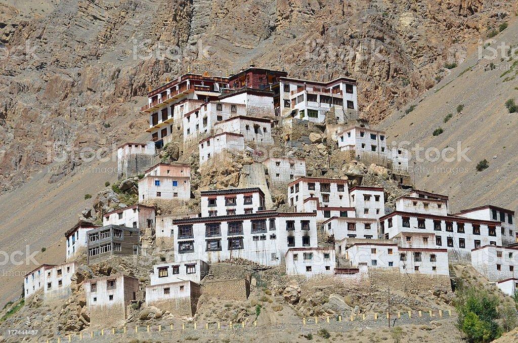 Monastery in Himalaya stock photo