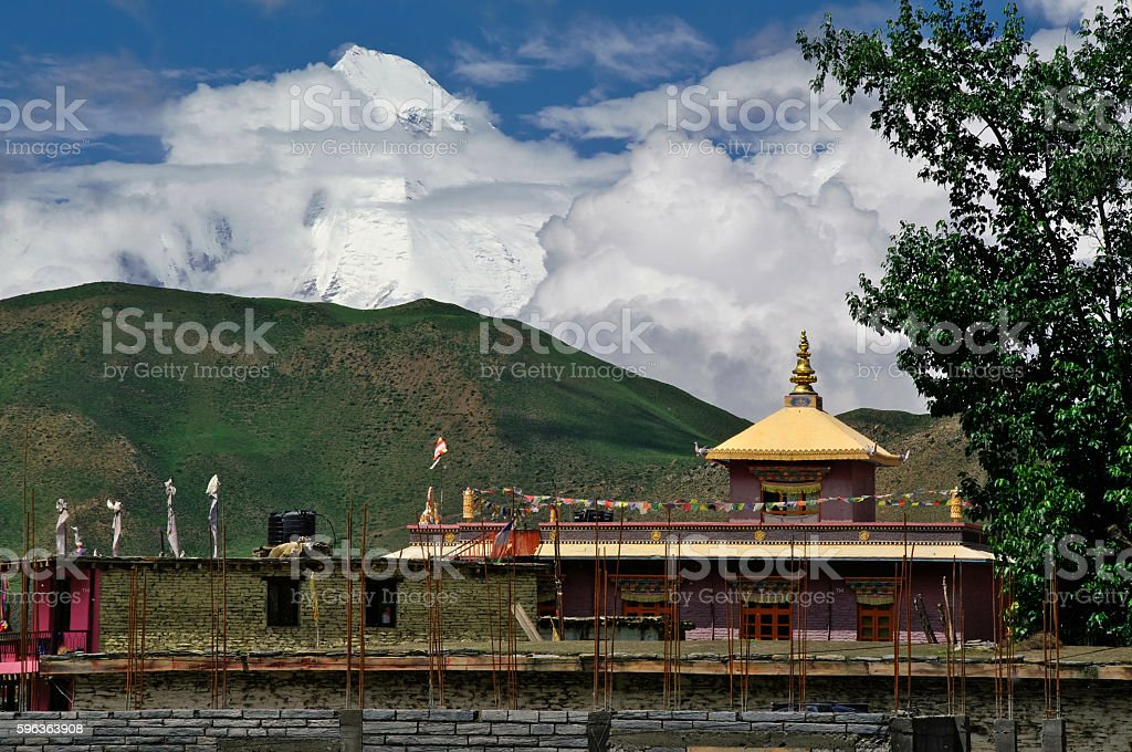 Monastery in Himalaya stock photo