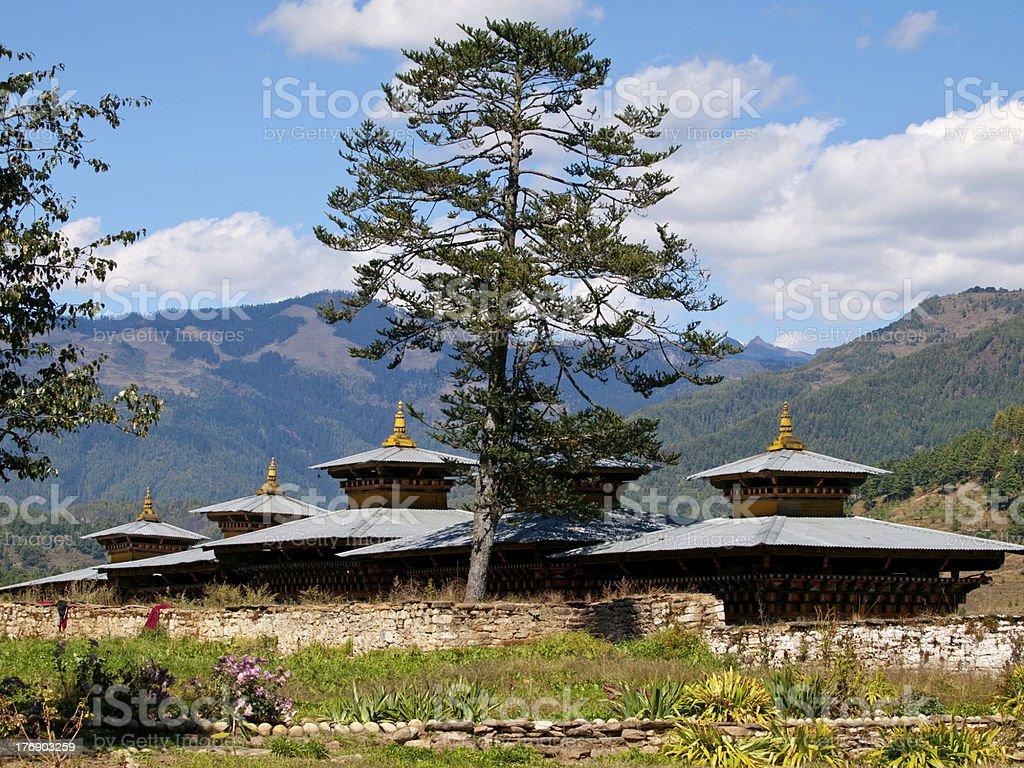 Monastery in Jakar (Bhutan) stock photo