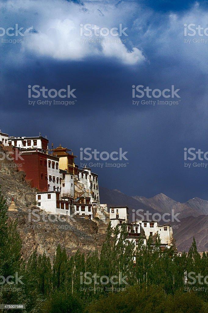 Monastery in Ladakh stock photo