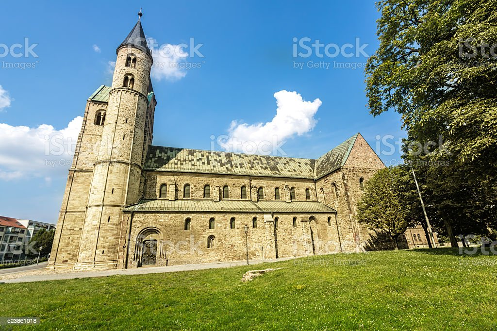 Monastery in Magdeburg stock photo