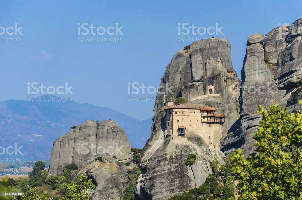 Monastery in Meteora, Greech royalty-free stock photo