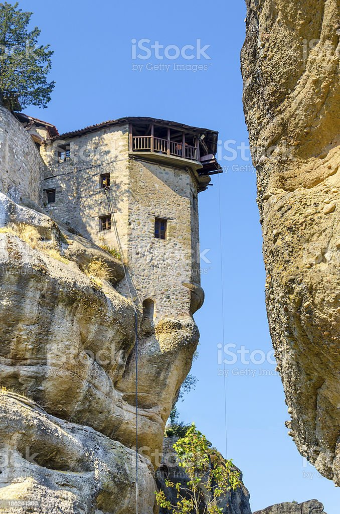 Monastery in Meteora, Greech royalty-free stock photo