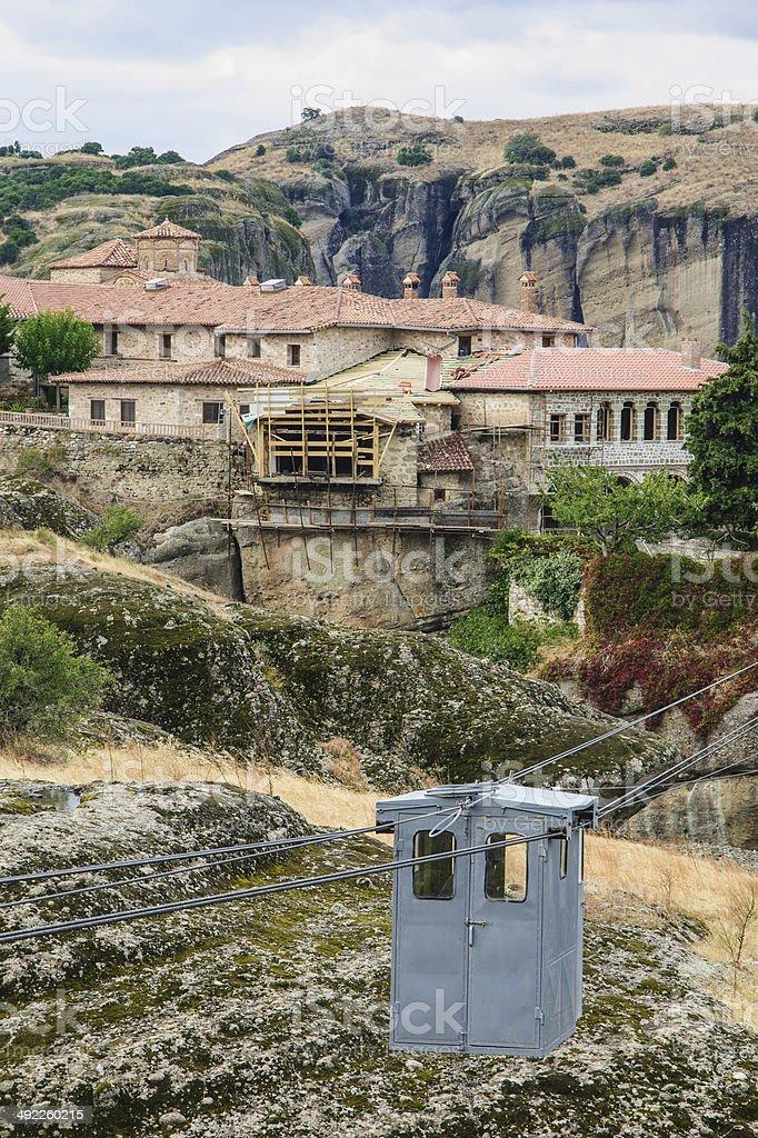 Monastery in Meteora royalty-free stock photo