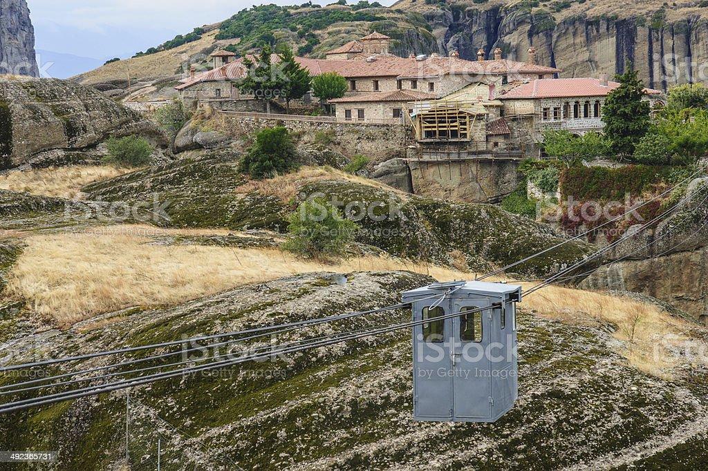 Monastery in Meteora stock photo