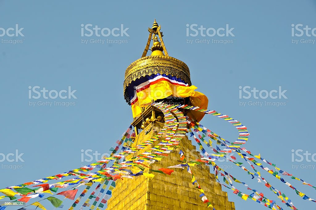Monastery in Nepal stock photo