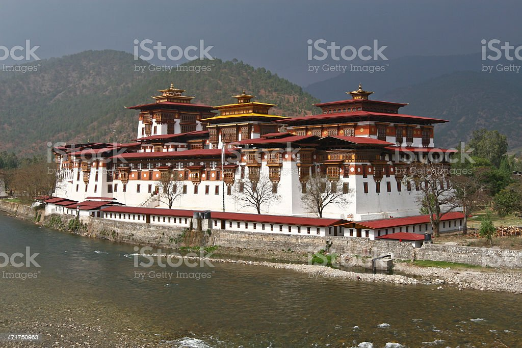 Monastery in Punakha stock photo