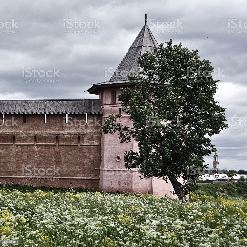 Monastery in Russia royalty-free stock photo