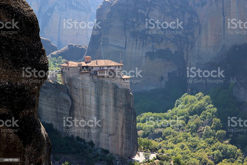 Monastery in the mountains stock photo