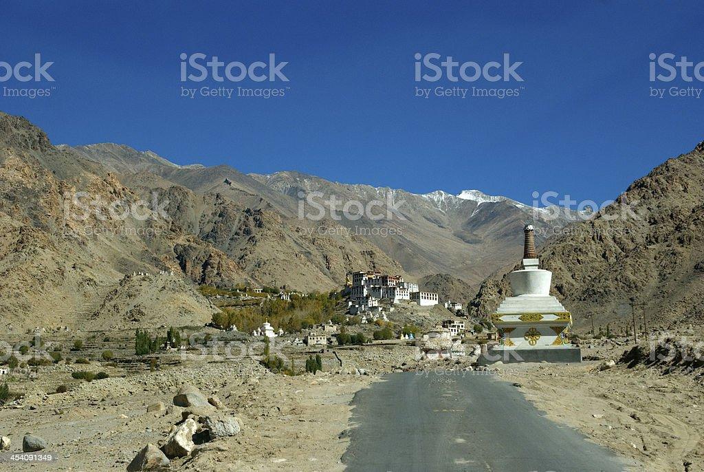 Monastery, Likir, Ladakh, India stock photo