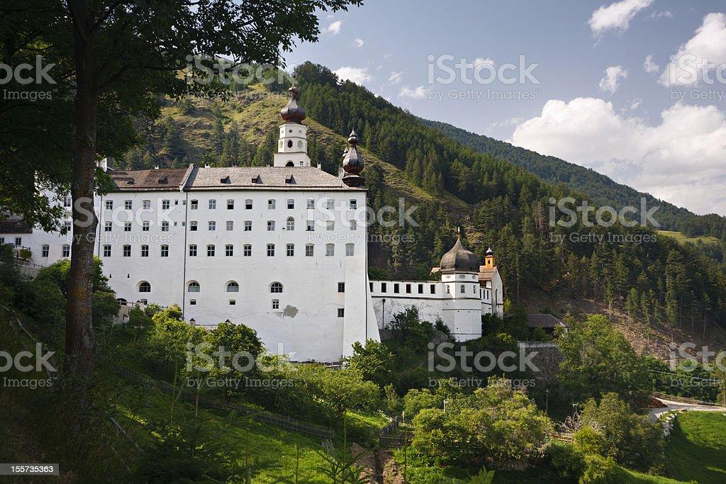 Monastery Marienberg, Italy stock photo