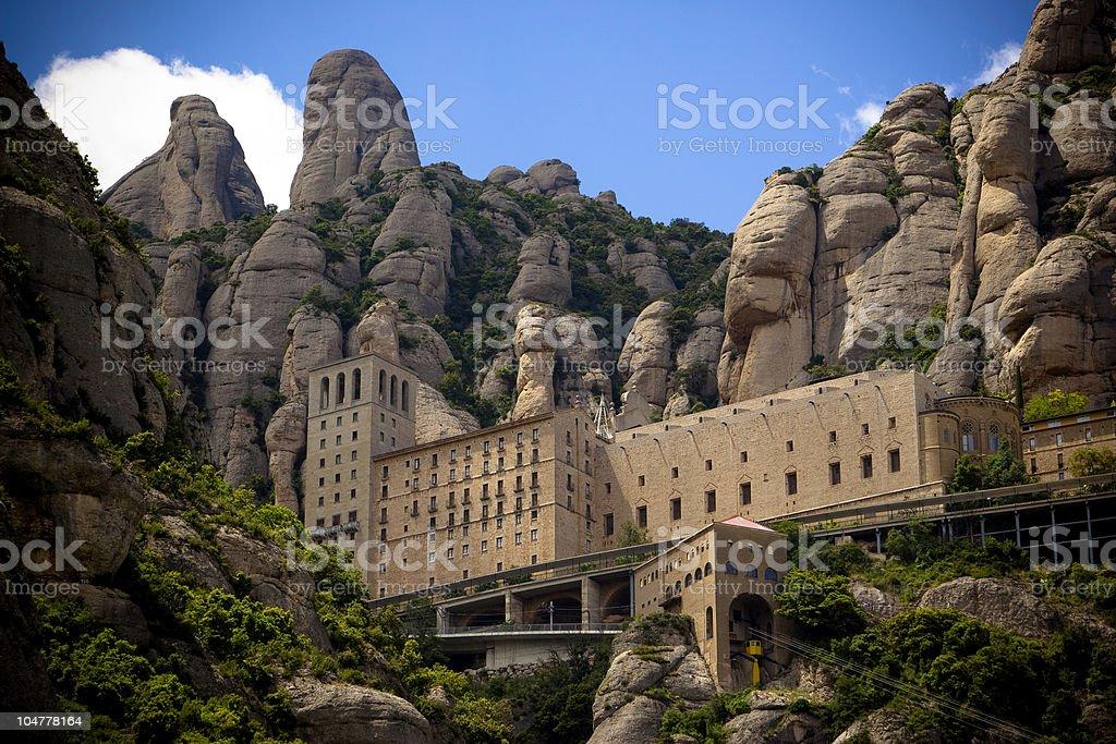 Monastery Montserrat, Barcelona, Spain stock photo
