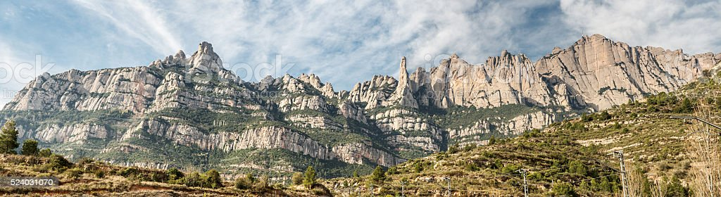 Monastery Montserrat stock photo