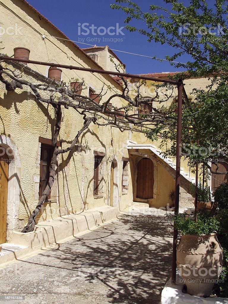 Monastery near Chania, Crete stock photo