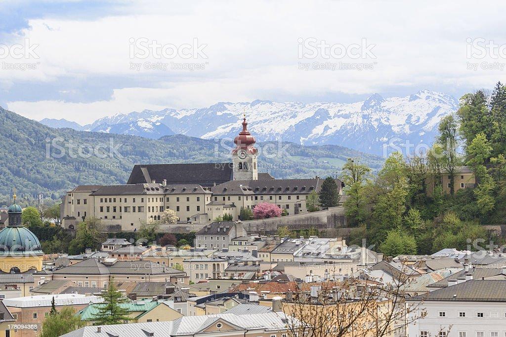 Monastery Nonnberg stock photo