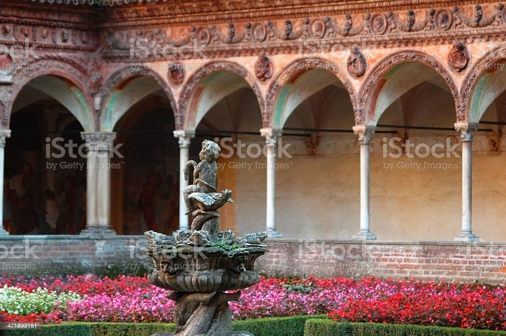 monastery of Certosa di Pavia stock photo
