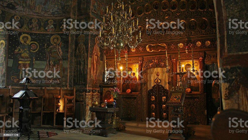 Monastery of Cozia, Caciulata, Romania stock photo