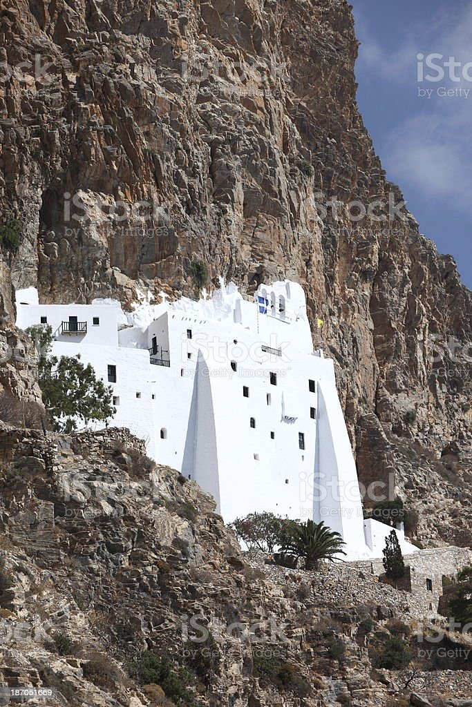 Monastery of Moni Chozoviotissa in Amorgos, Greece stock photo