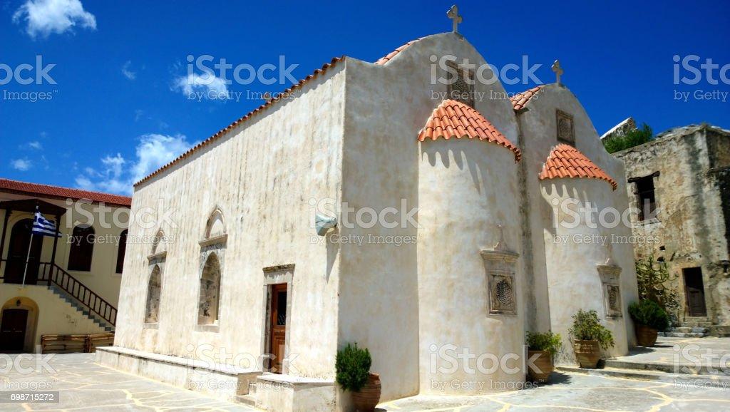 Monastery of Preveli in Crete stock photo