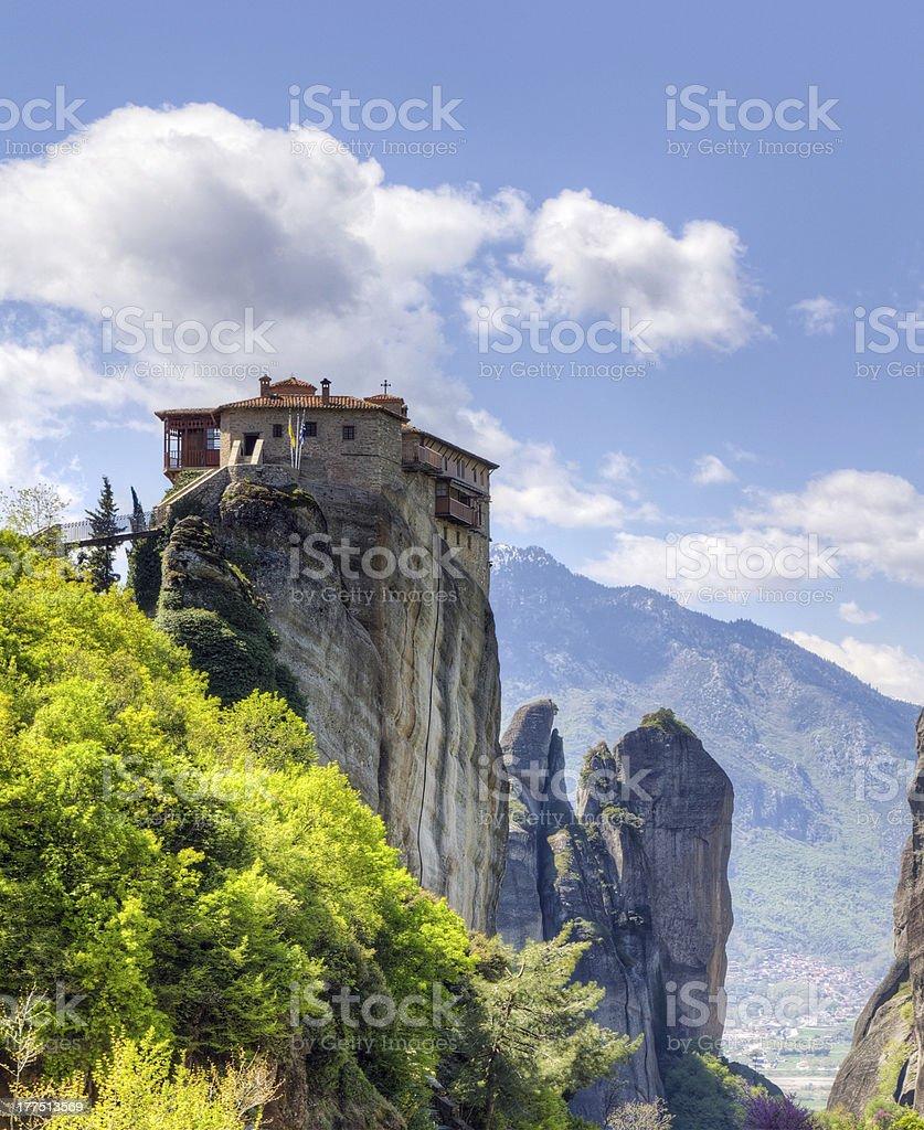 Monastery of Rousanou, Meteora, Greece stock photo