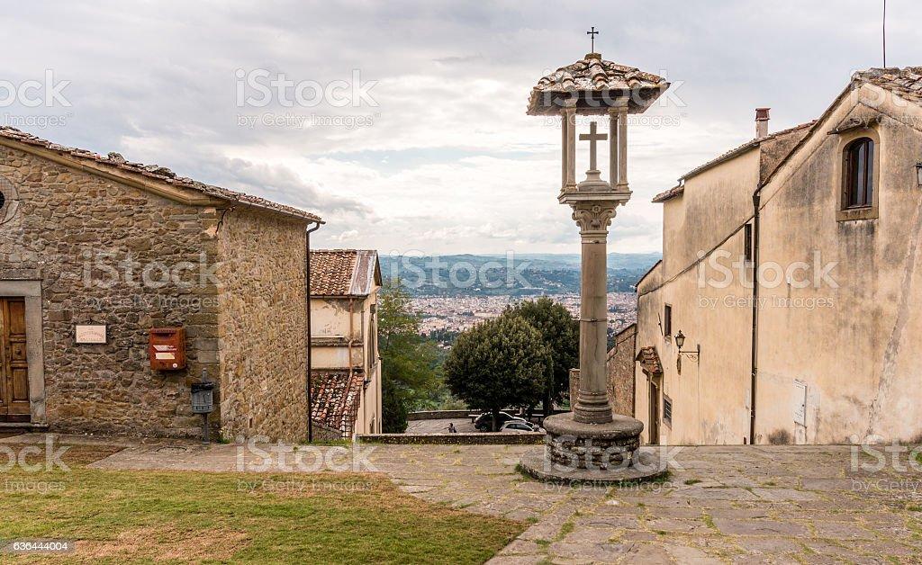 monastery of S. Francesco in Fiesole. stock photo