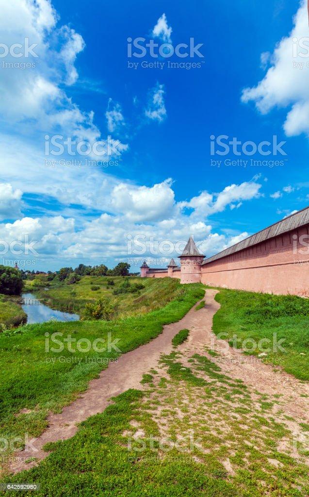 Monastery of Saint Euthymius Wall, Suzdal stock photo