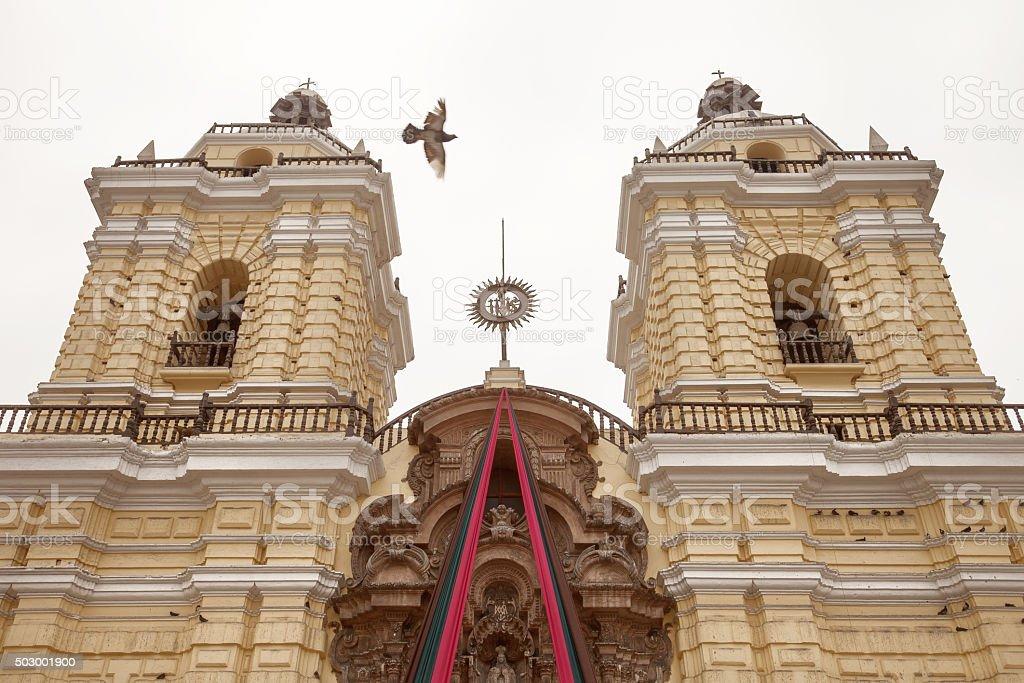 Monastery of San Francisco in Lima, Peru stock photo