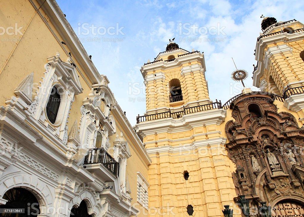 Monastery of San Francisco - Lima, Peru stock photo