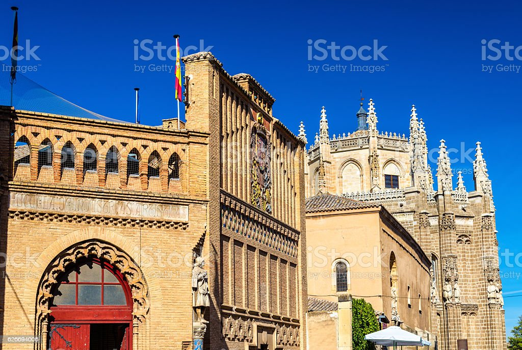 Monastery of San Juan de los Reyes in Toledo. Spain stock photo