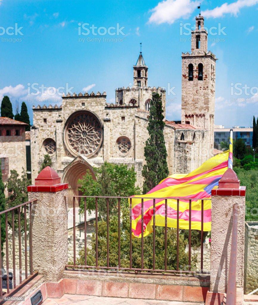 monastery of Sant Cugat, Catalonia, Spain stock photo