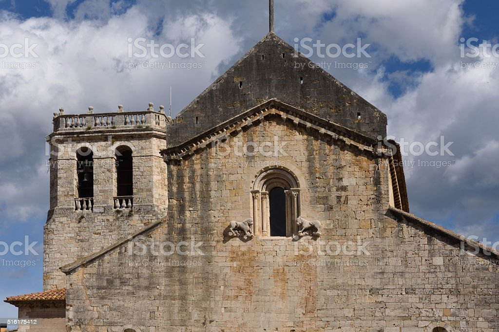 monastery of Sant Pere Besalu,Girona province, Catalonia, Spain stock photo