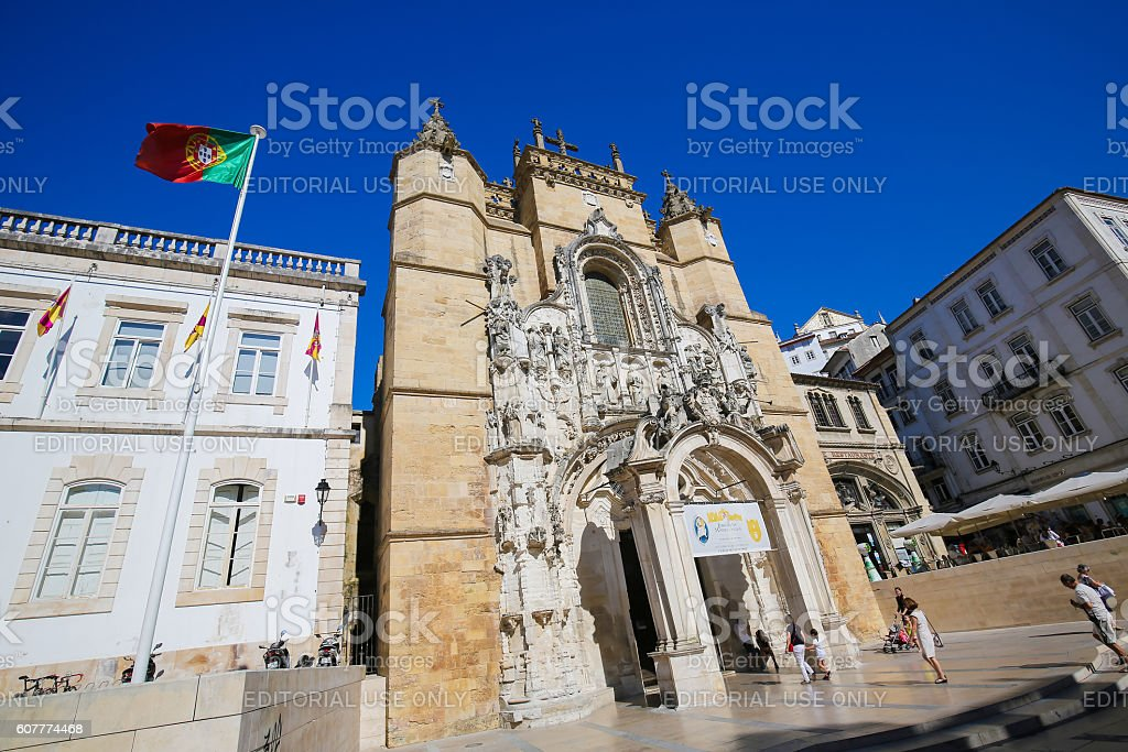Monastery of Santa Cruz (Coimbra) stock photo