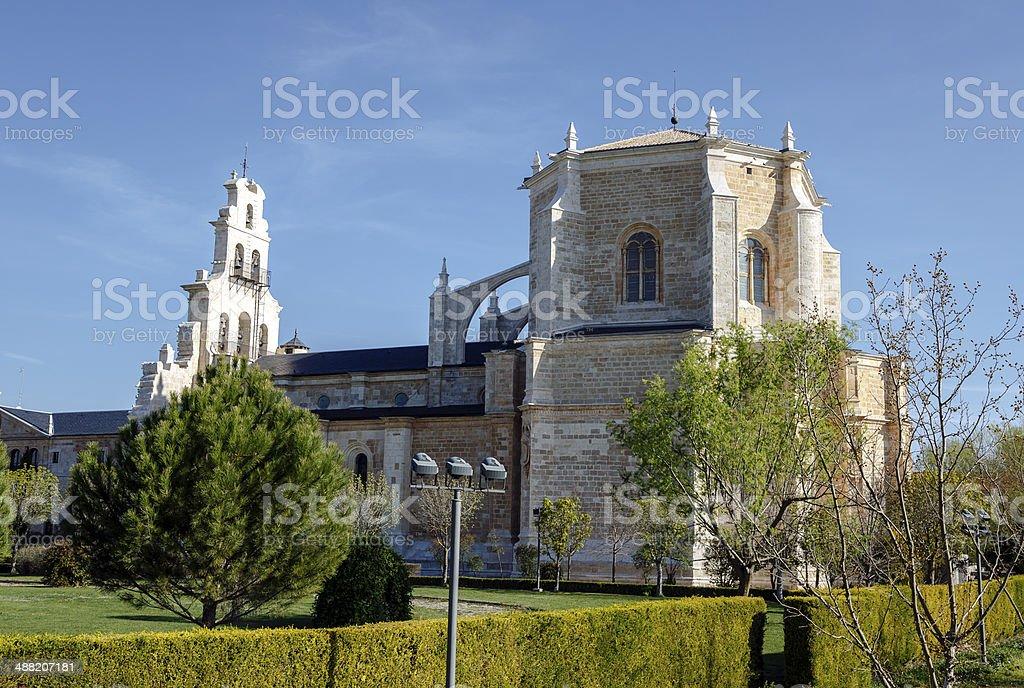 Monastery of Santa Maria de la Vid stock photo